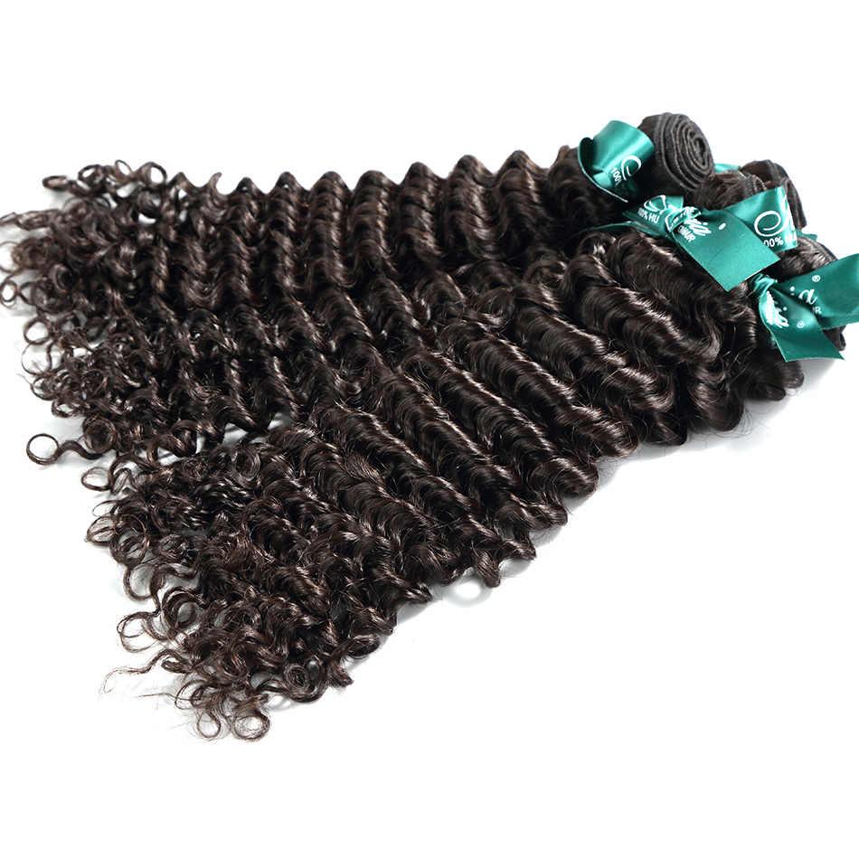 ILARIA волос бразильские вьющиеся волосы девственные глубокая волна 4 Связки Необработанные человеческих волос Weave Bundle естественный цвет бесплатная доставка