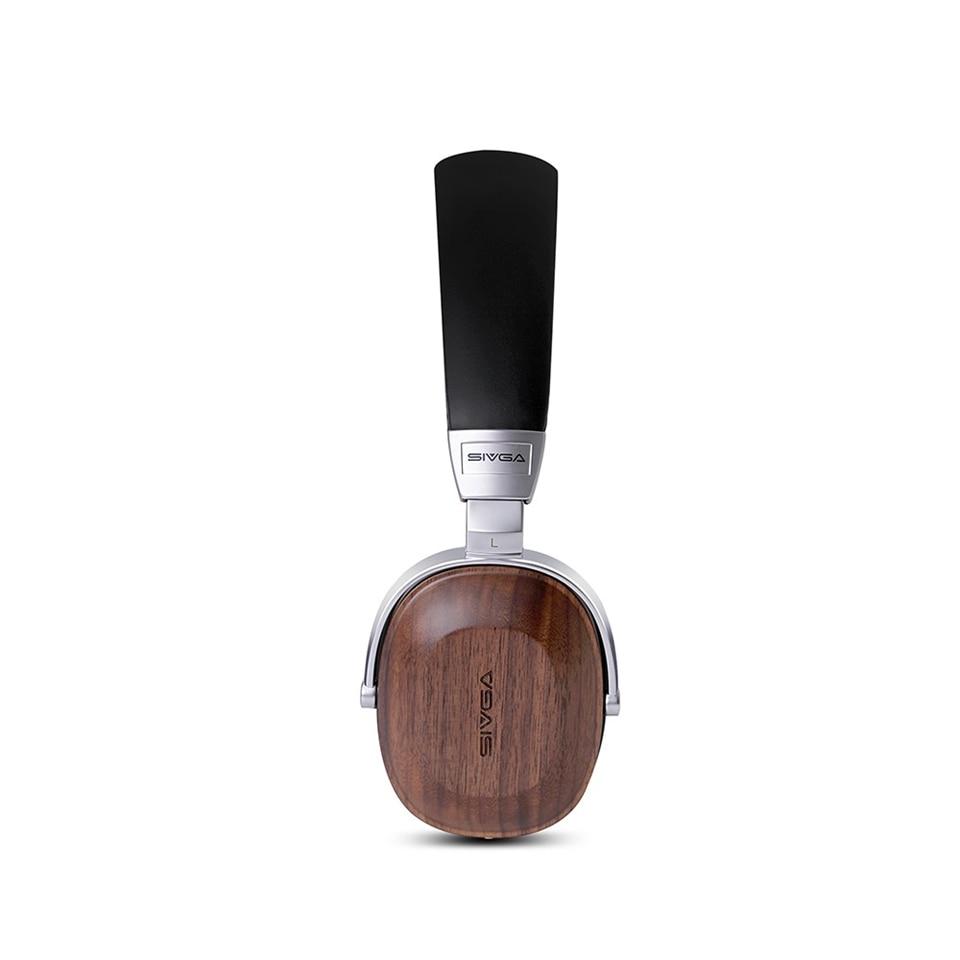 SIVGA SV006 di Legno Studio Monitor DJ Auricolare Cuffie Auricolare Con Microfono Hifi Stereo 50 millimetri Placcato Berillio Dinamico - 4