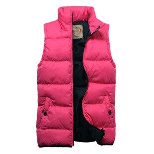 Осень и зима любителей жилет жилет женщин и мужчин хлопок ватные жилеты куртки S-XXL падения бесплатная доставка