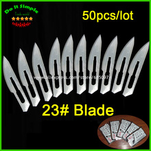50pcs/lot Blade 23# Surgery Scalpel Opening Repair Tools Knife for Disposable Sterile/Mobile Phone/Beauty/DIY