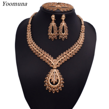 Nigerian jewelry set for women african beads silver/gold bridal crystal jewelry sets Wholesale for wedding necklace jewellery недорого