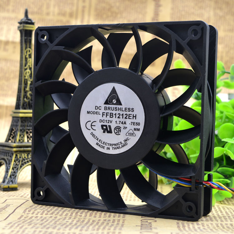 Delta 12025 12 V 1.74A 12 cm FFB1212EH ventilador 2PIN/3PIN/4PIN
