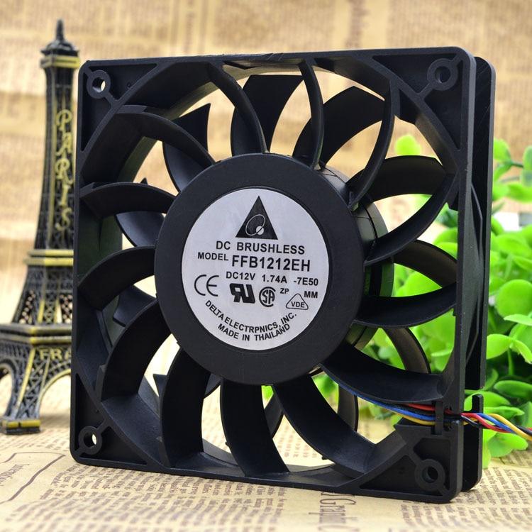 Delta 12025 12 v 1.74a 12 cm ffb1212eh ventola di raffreddamento pin/pin/pin