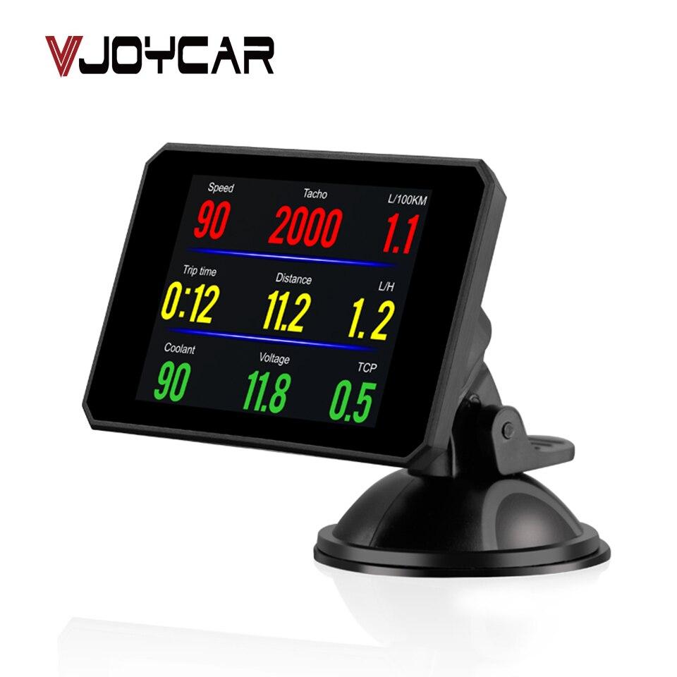 VJOYCAR P16 HD OBD2 Speed Car Windshield Projetor Head-Up Display Hud Velocímetro Projetor Alarme Auto OBD OBDii Rejeitar tráfego