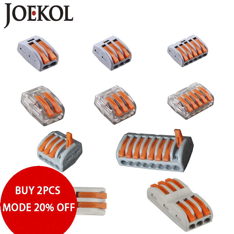 Free Shipping (30-50pcs/lot) 222 WAGO mini fast wire Connectors,Universal Compact Wiring Connector,push-in Terminal Block original free shipping bux98a bux98 to 3 50pcs lot in stock