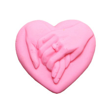 Lovely Hands Design Soap Mold Heart Shape Silicone for Making Cake Chocolate Wax Resin Gypsum Molds
