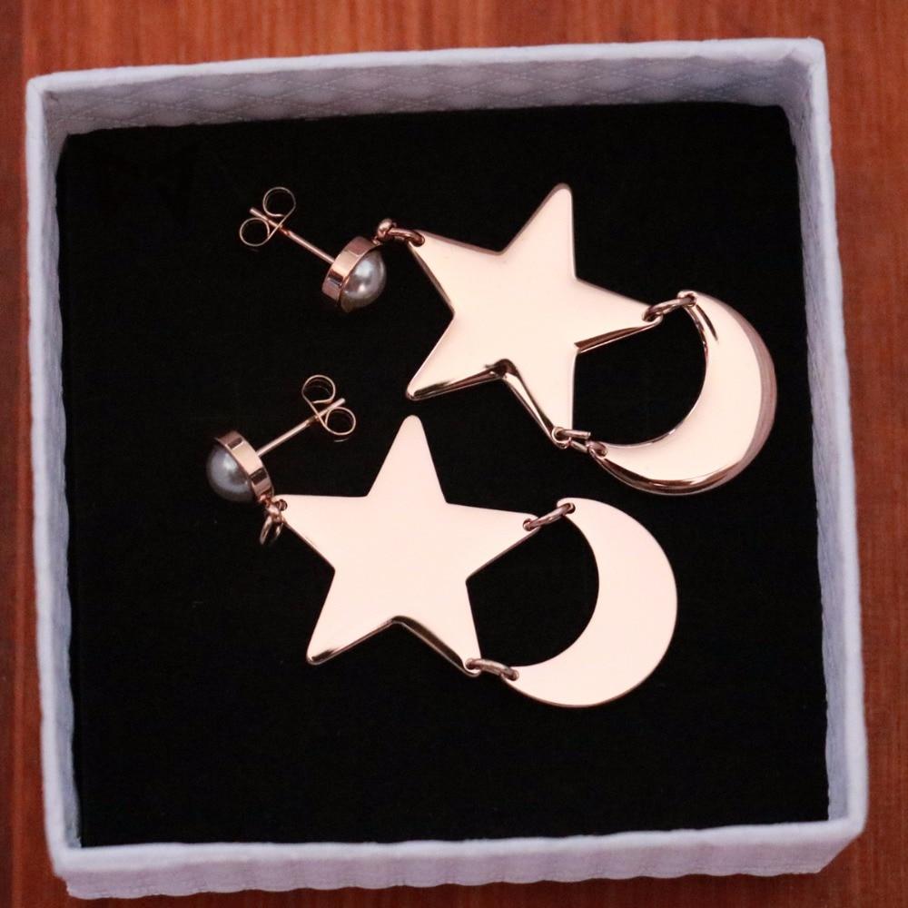 Athemis Sailor Moon Crystal Tsuking Usagi Princess Serenity  Moon And Stars Style Earrings Anime Cosplay Jewelry