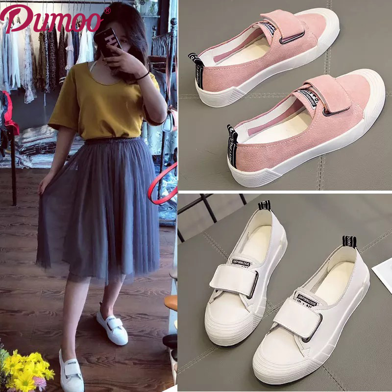 Dumoo 2018 Fashion Girl Casual Shoes Genuine Leather Shoes Women Candy Colors Sneaker Leisure Shoes Flats Heel 2.5cm Shoes