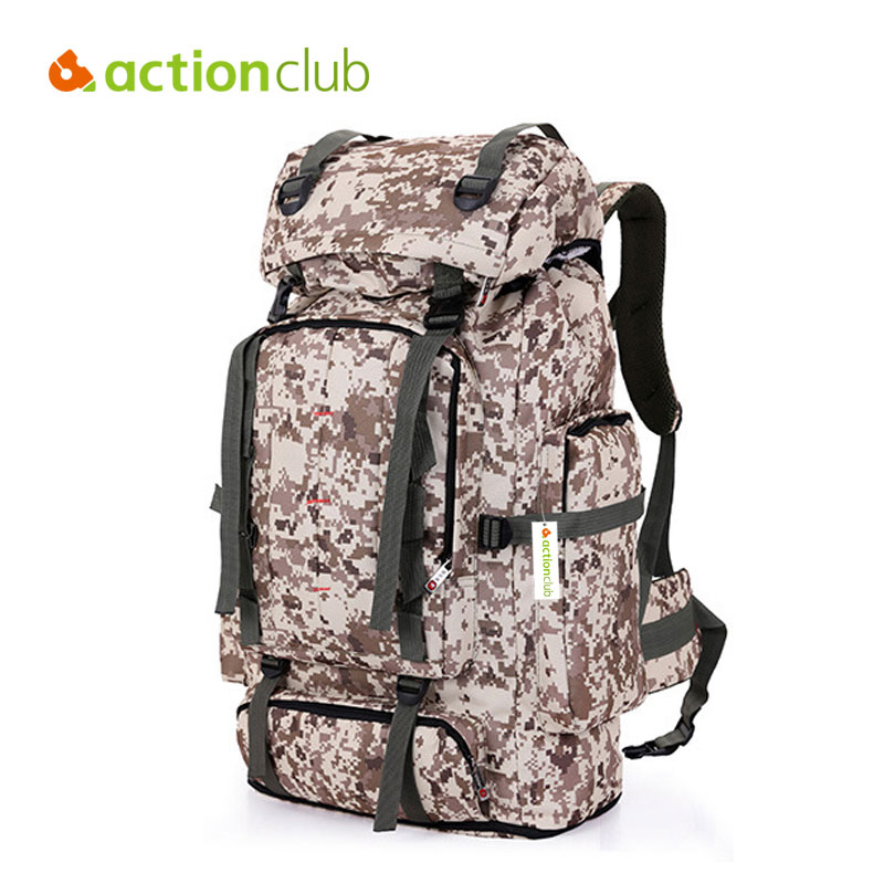 Actionclub Large 70L Outdoor Backpack Unisex Travel Travel Climbing Backpacks Hiking Big Capacity Rucksacks Camping Sports Bags mountec large outdoor backpack travel multi purpose climbing backpacks hiking big capacity rucksacks sports bag 80l 36 20 80cm