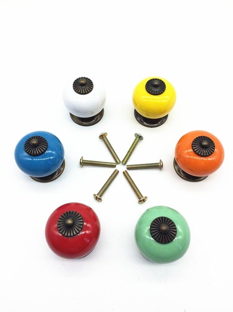 UNILOCKS New design white ceramic knobs furniture handles knobs wardrobe and cupboard knobs drawer dresser knobs cabinet pulls
