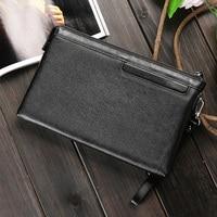 100% Genuine Leather Men Wallet Large Capacity Clutch Bag Men's Handy Bag Portable Long Male Purses Carteira Masculina Man Purse