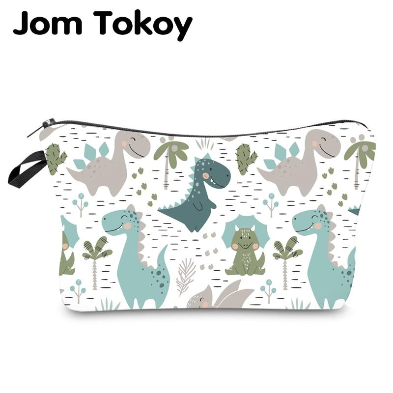 Jom Tokoy Waterproof Cosmetic Organizer Bag Makeup Bag Printing Dinosaur Cosmetic Bag Fashion Women Multifunction Beauty Bag 943