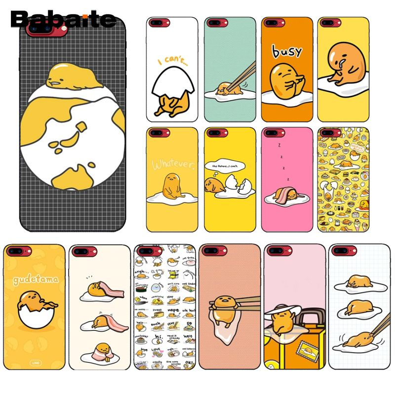 Babaite cute lovely gudetama lazy egg Newly Arrived Black Cell Phone Case for iPhone X XS MAX  6 6s 7 7plus 8 8Plus 5 5S SE XR mobile phone