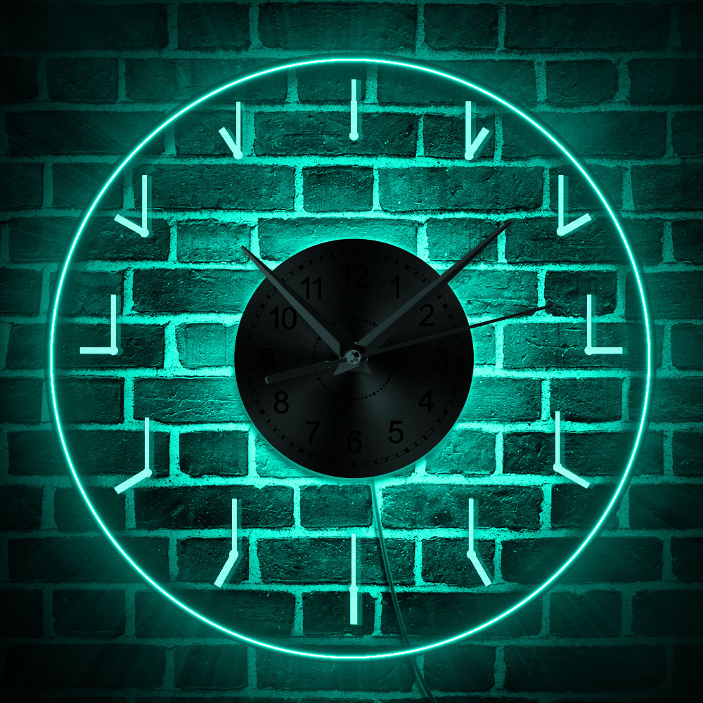 Simple Transparent 3D Wall Clock Modern Design LED Glow Wall Clocks Wall Watches Dial Vision Decorative Wall Clock Maison