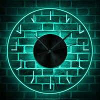 Simple Transparent 3D horloge murale LED au design moderne lueur horloges murales montres murales cadran Vision décorative horloge murale Maison