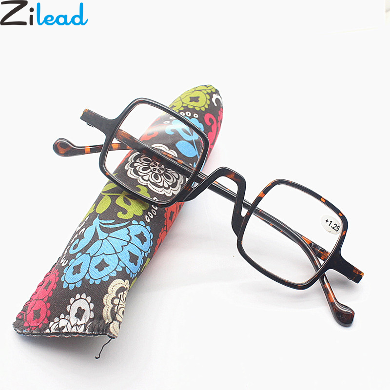 Zilead Ultralight Anti Blue Light Reading Glasses Small Frame Square Presbyopia Eyeglasses Hyperopia Eyewear With0...+4.0 Unisex