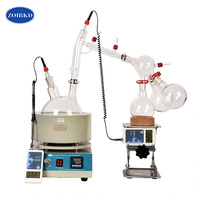 Lab Small Equipment 5L Short Path Distillation With Stirring Heating Mantle Include Cold trap For Purification Of Plant Hemp