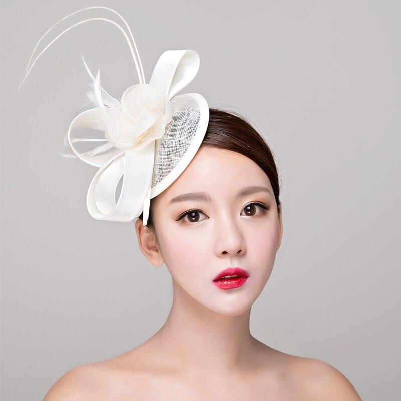 Rood / wit / zwart Sinamay hoeden koninklijke fascinators bruiloft - Kledingaccessoires