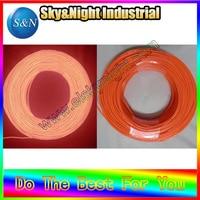 40M/Lot 2.3mm Flexible Neon EL Wire Rope Tube Orange +Free shipping