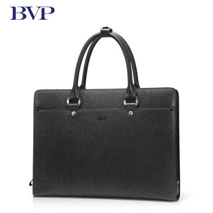 BVP Famous Brand High Quality Men Portable Briefcase Genuine Leather Laptop Bag Business Black Real Leather Male Zipper Bag J40 genuine for lenovo thinkpad t430u laptop cpu cooling fan heatsink 04y1237