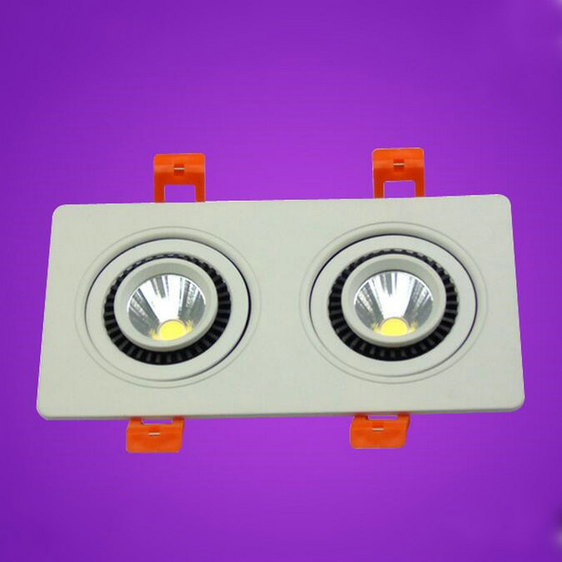 2*10W Double rotate 360 degrees COB LED Downlight LED Recessed Light Lamp Cool / Warm White 60Beam Angle AC85-265V CE&ROHS