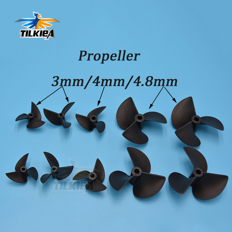 Rc Boat Propeller  3 blades Nylon Propellers  For 3mm/4mm/4.8mm Shaft Rc Boat 3 Blade Plastic Paddles|propeller 3|rc boat propellerboat propeller - AliExpress