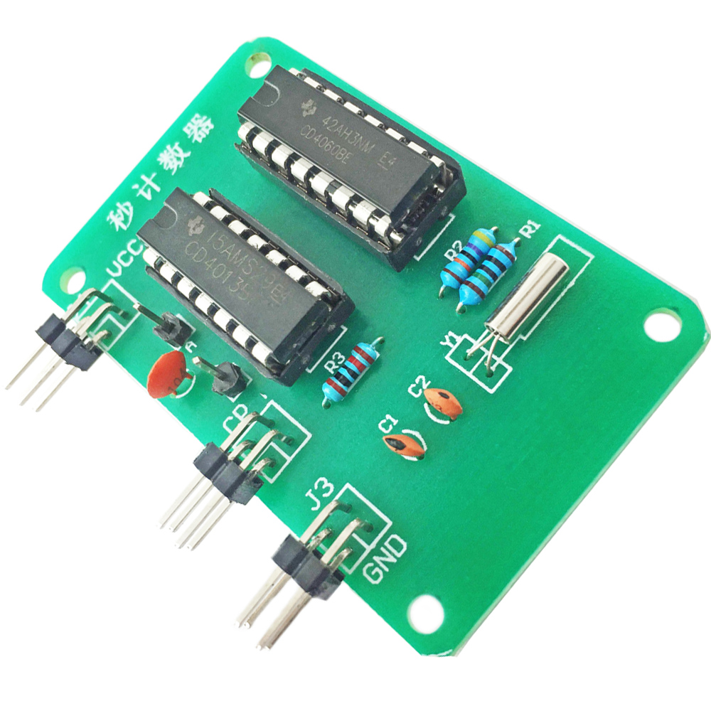 Cnikesin Diy Kit Second Counter Seconds Signal Generation Circuit Electronic Production Project Suite Kits Module Board Teaching Assembly Process Training In Integrated Circuits From