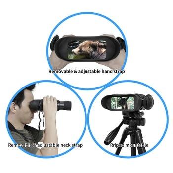 Professional Night Vision 32G IPX4 400m HD IR Camera Photo Video 5x Zoom set time Widescreen Monocular Binoculars for hunting 5