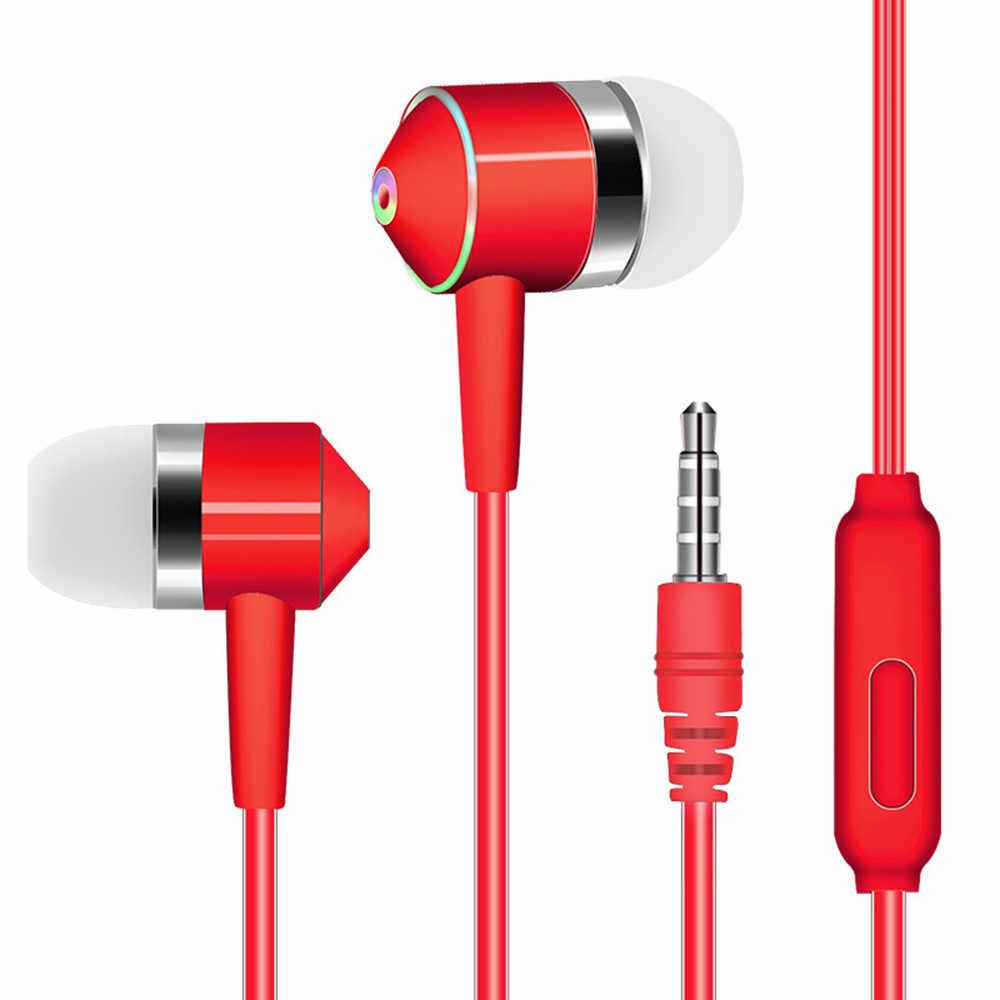 Nowy 3.5mm drutu tłok Dual-sterownik słuchawki douszne słuchawki Stereo zestaw słuchawkowy Sport z mikrofonem auriculares con kabel # yl