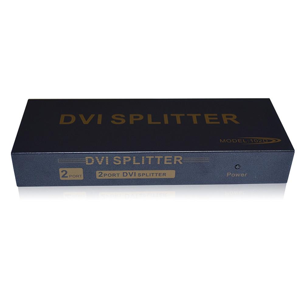 2 ports 2 in 1 out 1080P/60Hz DVI splitter distribution duplicator