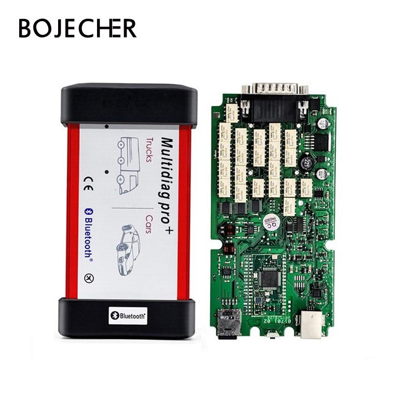 Unique PCB 2016. r0 avec keygen Nouveau Design Bluetooth Multidiag Pro + Pour Voitures/Camions Et OBD2 voiture outil de diagnostic