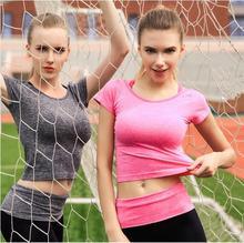 2017 T-shirts for Women  fitness Bodybuilding Short Sleeve T-shirts Fitnesss T-shirts for Women crop to shirt female