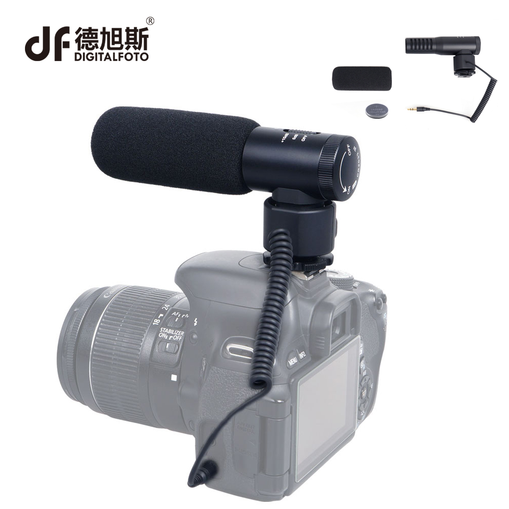 DIGITALFOTO MINI compact camera Directional Video Microphone recorder with Shock Mount for DSLR Camera interview