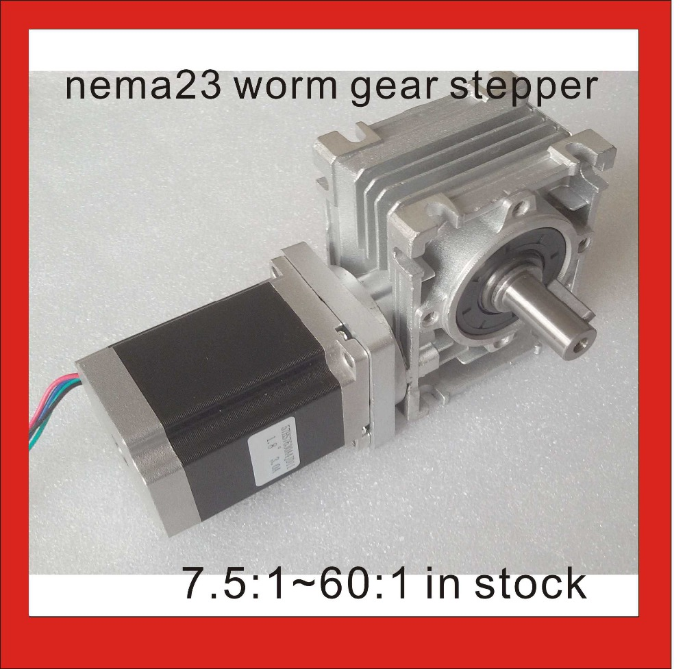 5:1-80:1 NEMA23 Worm Gear Stepper Motor RV30 Worm Reducer with NEMA 23 Stepper Motor 76mm Motor Body Length CE ROHS 5:1-80:1 NEMA23 Worm Gear Stepper Motor RV30 Worm Reducer with NEMA 23 Stepper Motor 76mm Motor Body Length CE ROHS