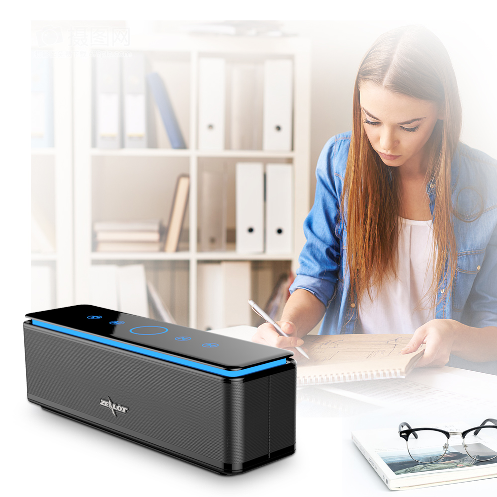 ZEALOT S7 soundbox Touch Control Speakers Bluetooth Wireless 4 Drivers Audio Home Music Theatre 3D Stereo System Computer Phones micro music system philips btm2460 musical centers and radio cassettes speakers home audio