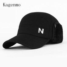 Kagenmo, осенняя и зимняя мужская кепка, Шерстяная кепка для защиты ушей, Зимняя кепка, бейсбольная кепка, шерстяные теплые шапки