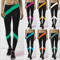 2017 Fashion Women Fitness Leggings Multi Colors Workout Compress Skinny Legging 3D Printed Elastic Waist Stretch Pant