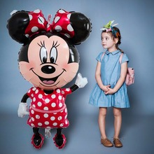 Disney Large Size Minnie Mouse Foil Balloons Birthday Party Decoration Cartoon Cute Baby Shower Balloon