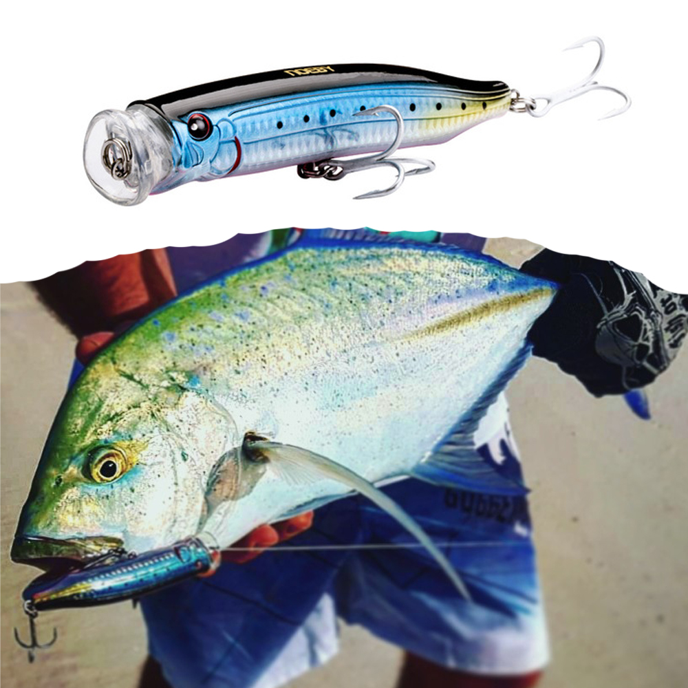 Noeby feed popper fishing <font><b>lure</b></font> ABS plastic 100mm 19.5g 120mm 29g <font><b>150mm</b></font> 54.5g top water for sea bass 11 colors available image