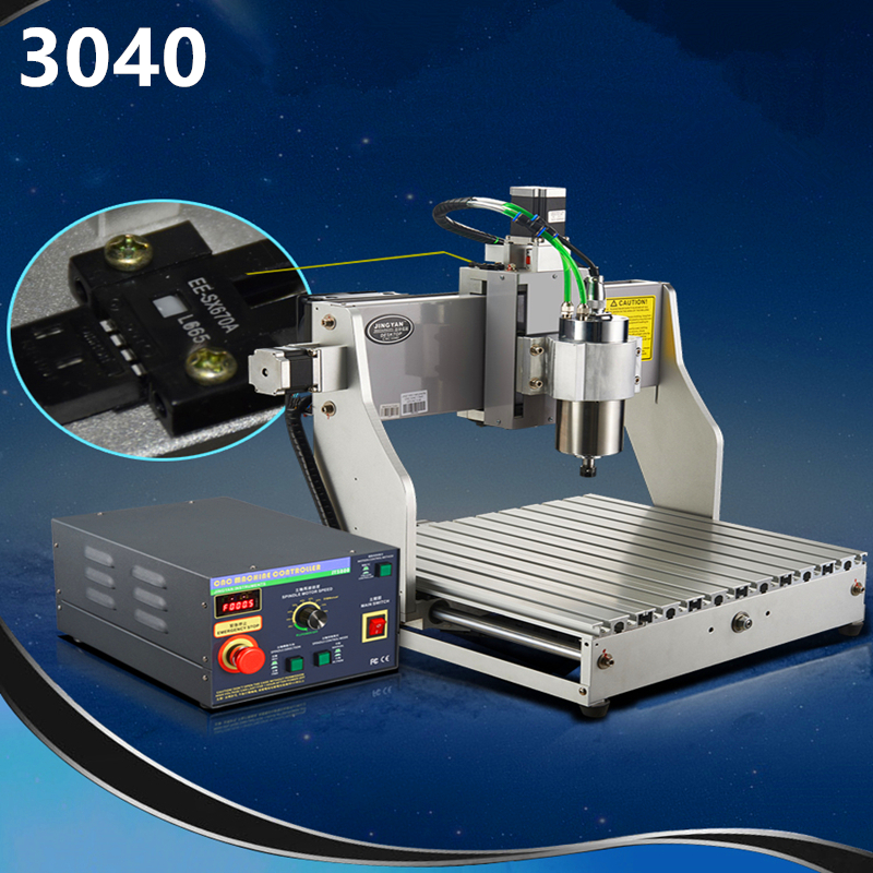800mwCNC 4030 Engraving Machine Small Automatic Computer Carving Woodworking Jade Full Aluminum Rack Electric Tool