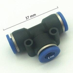 C162 100 sztuk 4mm, 6mm, 8mm, 10mm, poślizgu blokady szybkie Tee złącza z tworzywa sztucznego tyłek stawów mgły akcesoria do chłodzenia rura pneumatyczna armatura