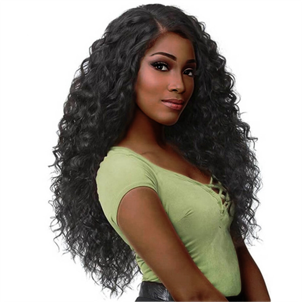 Stylish Design Natural Soft  Curly Wig Glueless Rose net Wigs Black Women Indian Remy Human Hair Lace Front Gift Dropshipping