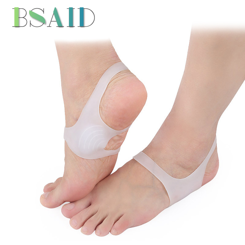BSAID Bandage Heel Correction Silicone Orthotics Insoles For 'O' Leg / Varus / Valgus Foot Corrector Orthopedic Braces Foot Pads o x leg correction half insoles inner outer eight foot orthopedic correction silicone heel pad for men women 5 pairs lot vc3550