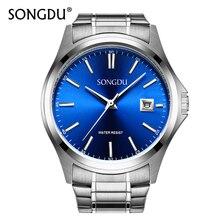 Women Watches Top Brand Luxury SONGDU Watch Quartz Waterproof Wristwatch Steel Band Date Female Business Clock Relogio Feminino