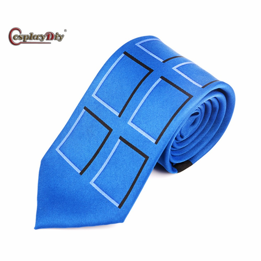 Cosplaydiy Doctor Who Tie Fashion and leisure Adult Unisex Tie (148*8cm) Cosplay Accessories J5