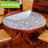 Waterproof and oil resistant plastic tablecloth 2mm thickness no clean Hotel restaurant dining table placemat pvc tablecloths