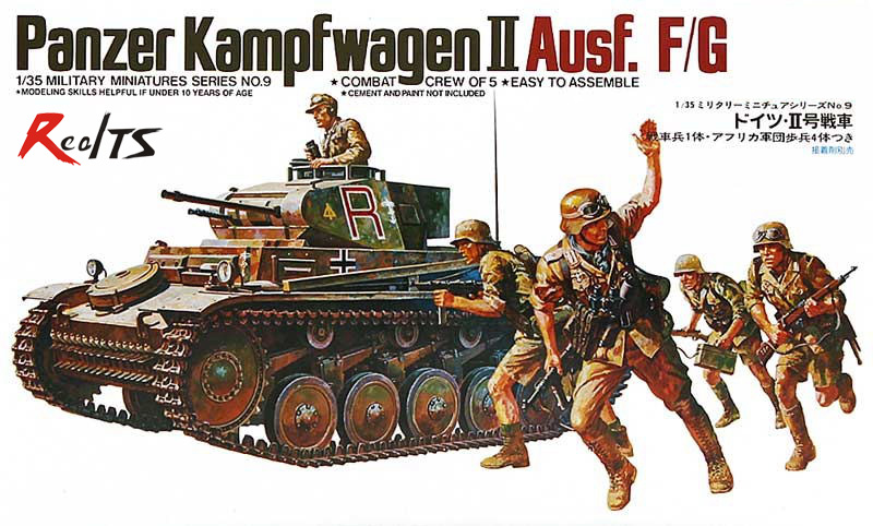 RealTS TAMIYA MODELL 1/35 militärmodelle #35009 Deutsch Panzer Mk. II Ausf. F/G kunststoff modell kit