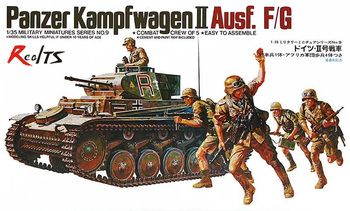 RealTS TAMIYA MODEL 1/35 SCALE military models #35009 German Panzer Mk.II Ausf.F/G plastic model kit