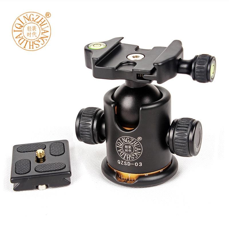 QZSD-03 Q03 Professional 360 degree Panoramic Swivel Camera Tripod Head Fitting For Siru ...