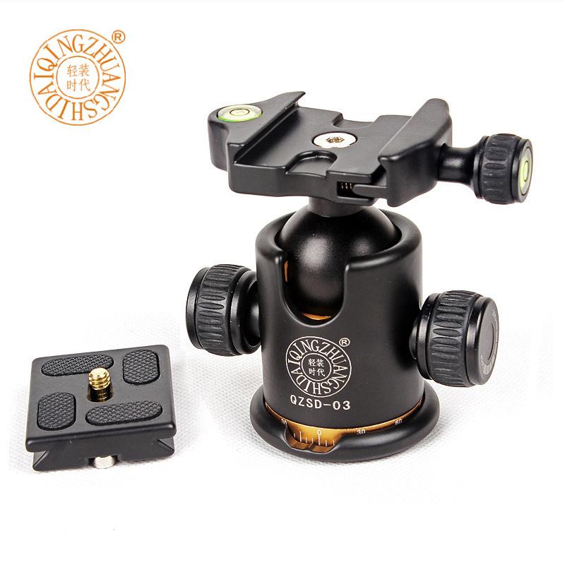Prix pour QZSD-03 Q03 Professionnel 360 degrés Panoramique Pivotant Caméra Trépied Tête Raccord Pour Sirui Benro Manfrotto